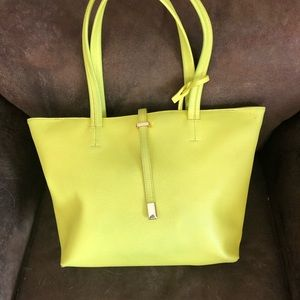 Lime green Vince Camino tote!